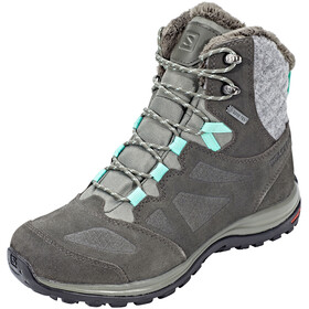 Salomon Ellipse GTX Winter Shoes Women Castor Gray/Beluga/Biscay Green